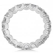 Asscher-Cut Diamond Eternity Wedding Band Ring 14k White Gold (5.00ct)|escape