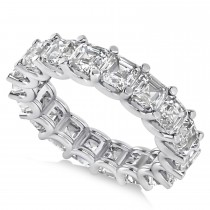 Radiant-Cut Diamond Eternity Wedding Band Ring 14k White Gold (7.20ct)