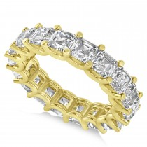Radiant-Cut Eternity Diamond Wedding Band Ring 14k Yellow Gold (7.20ct)