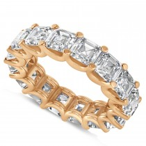 Radiant-Cut Eternity Diamond Wedding Band Ring 14k Rose Gold (9.00ct)