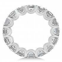Radiant-Cut Diamond Eternity Wedding Band Ring 14k White Gold (9.00ct)