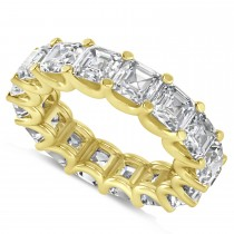 Radiant-Cut Eternity Diamond Wedding Band Ring 14k Yellow Gold (9.00ct)