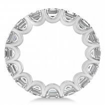 Asscher-Cut Diamond Eternity Wedding Band Ring 14k White Gold (9.00ct)