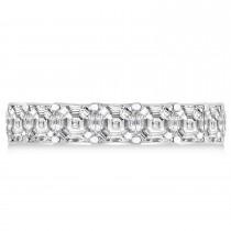 Asscher-Cut Diamond Eternity Wedding Band Ring 14k White Gold (9.00ct)