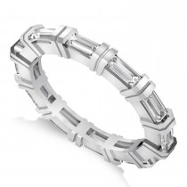 Baguette Diamond Eternity Ring Wedding Band 14k White Gold (2.16ct)