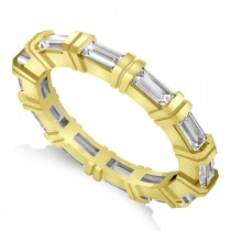 Baguette Diamond Eternity Ring Wedding Band 14k Yellow Gold (2.16ct)