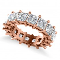 Princess Cut Diamond Eternity Wedding Band 14k Rose Gold (8.96ct)