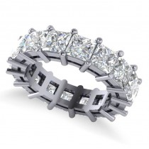 Princess Cut Diamond Eternity Wedding Band 14k White Gold (8.96ct)