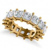 Princess Cut Diamond Eternity Wedding Band 14k Yellow Gold (8.96ct)