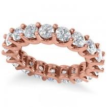 Diamond Eternity Wedding Band 14k Rose Gold (3.23ct)