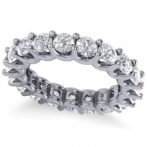 Diamond Eternity Prong-Set Wedding Band 14k White Gold (3.23ct)