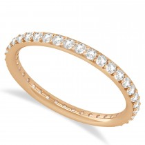 Diamond Eternity Wedding Band 14k Rose Gold (0.57ct)