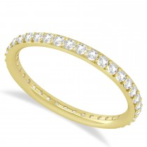 Diamond Eternity Wedding Band 14k Yellow Gold (0.57ct)