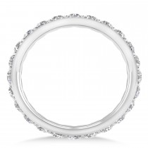 Diamond & Moissanite Eternity Wedding Band 14k White Gold (1.50ct) escape