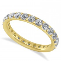 Diamond & Moissanite Eternity Wedding Band 14k Yellow Gold (1.50ct)
