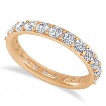 Diamond Eternity Wedding Band 14k Rose Gold (1.61ct)