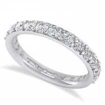 Diamond Eternity Wedding Band 14k White Gold (1.61ct)
