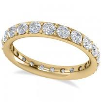 Diamond & Moissanite Eternity Wedding Band 14k Yellow Gold (1.76ct)