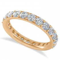 Diamond & Moissanite Eternity Wedding Band 14k Rose Gold (2.00ct)