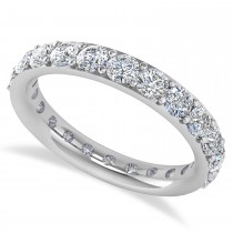 Diamond & Moissanite Eternity Wedding Band 14k White Gold (2.00ct)