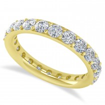 Diamond & Moissanite Eternity Wedding Band 14k Yellow Gold (2.00ct)