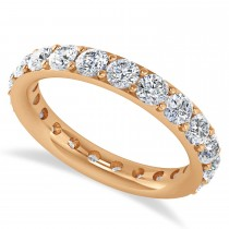 Diamond Eternity Wedding Band 14k Rose Gold (2.10ct)