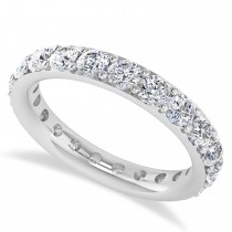 Diamond Eternity Wedding Band 14k White Gold (2.10ct)