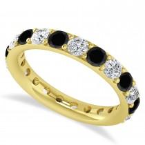 Black Diamond Eternity Wedding Band 14k Yellow Gold (2.10ct)
