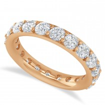 Diamond & Moissanite Eternity Wedding Band 14k Rose Gold (2.50ct)