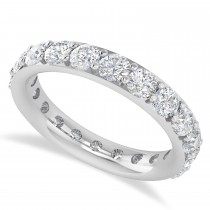Diamond & Moissanite Eternity Wedding Band 14k White Gold (2.50ct)