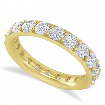 Diamond & Moissanite Eternity Wedding Band 14k Yellow Gold (2.50ct)