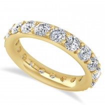 Diamond & Moissanite Eternity Wedding Band 14k Yellow Gold (2.85ct)