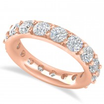 Diamond Eternity Wedding Band 14k Rose Gold (3.40ct)