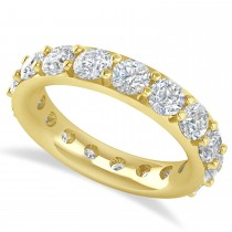 Diamond & Moissanite Eternity Wedding Band 14k Yellow Gold (4.20ct)