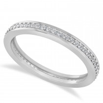 Diamond Eternity Channel Set Wedding Band 14k White Gold (0.28ct)
