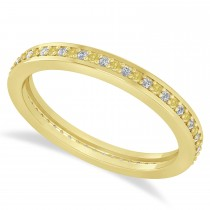 Yellow & White Diamond Eternity Wedding Band 14k Yellow Gold (0.28ct)