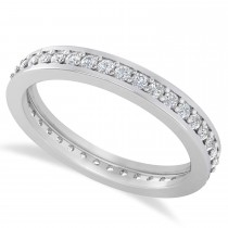 Diamond Eternity Channel Set Wedding Band 14k White Gold (0.59ct)