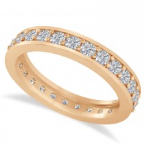 Diamond Eternity Wedding Band 14k Rose Gold (1.08ct)