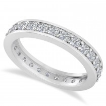 Diamond Eternity Channel Set Wedding Band 14k White Gold (1.08ct)