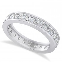 Diamond Eternity Channel Set Wedding Band 14k White Gold (1.44ct)