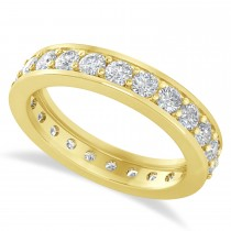 Diamond Eternity Wedding Band 14k Yellow Gold (1.44ct)