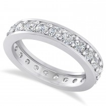 Diamond Eternity Wedding Band 14k White Gold (1.61ct)