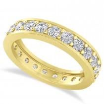Diamond Eternity Wedding Band 14k Yellow Gold (1.61ct)