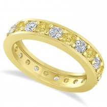 Yellow Diamond Eternity Wedding Band 14k Yellow Gold (1.61ct)