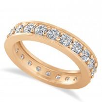 Diamond Eternity Wedding Band 14k Rose Gold (1.76ct)