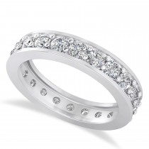 Diamond Eternity Channel Set Wedding Band 14k White Gold (1.76ct)