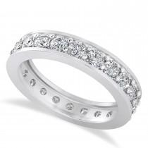 Diamond Eternity Wedding Band 14k White Gold (1.76ct)