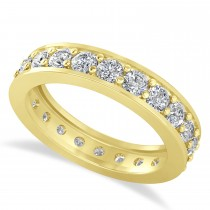 Diamond Eternity Wedding Band 14k Yellow Gold (1.76ct)