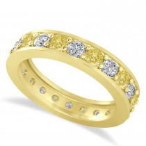 Yellow Diamond Eternity Wedding Band 14k Yellow Gold (1.76ct)