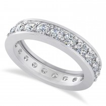 Diamond Eternity Wedding Band 14k White Gold (1.89ct)